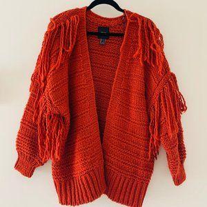 NWOT Forever21 fringe cable knit cardigan